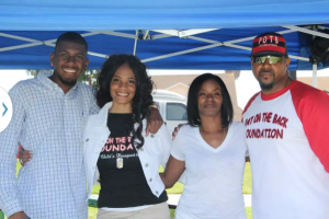 """Kids Day 2013, Pat on the Back Foundation (""""POTB""""): Marquis, Dion Sayles McKinney (Director), Deedrick Pugh (Patrick's Sister) and Patrick."""