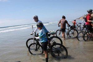 Figure 3: T.J. & Gus finish ride in Encinitas, CA