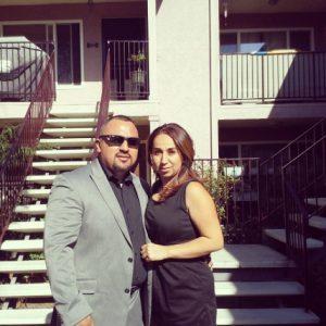 Joe Vargas with wife of 16 years, Lorena Romero