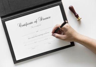 spouse, divorce papers